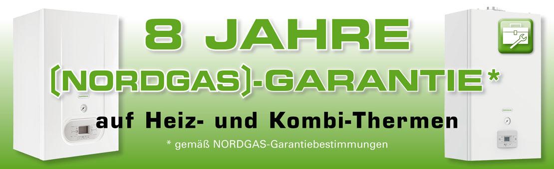 8 Jahre Nordgas-Garantie